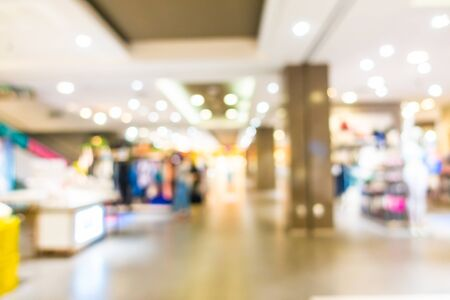 Abstract blur and defocused beautiful luxury shopping mall in department store interior Imagens