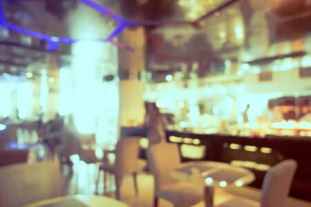 Abstract blur and defocus coffee shop cafe and restaurant interior for background 写真素材 - 124720909