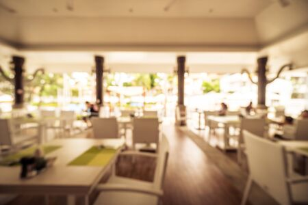 Abstract blur restaurant and coffee shop cafe interior