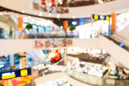 Abstract blur and defocused shopping mall and retail interior of department store Imagens - 124714481