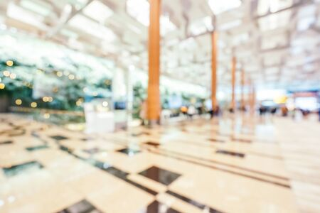 Abstract blur and defocused changi aiport terminal interior
