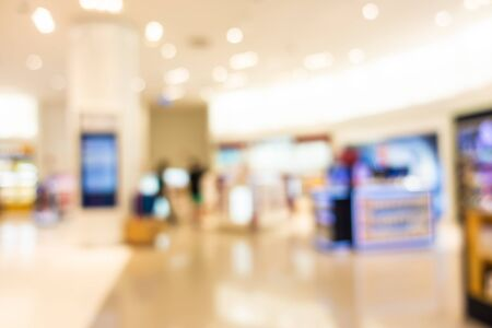 Abstract blur and defocused shopping mall and retail interior of department store Imagens