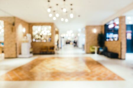 Abstract blur and defocused luxury shopping mall of department store interior Imagens