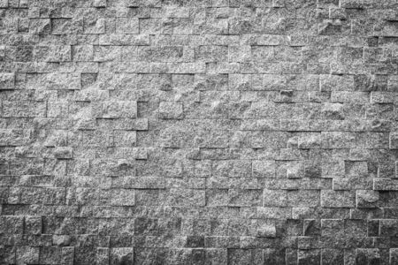 Gray and black color stone brick texture and surface with copy space for background