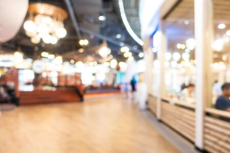 Interior de centro comercial borroso abstracto de grandes almacenes Foto de archivo