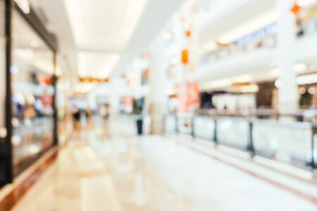 Abstract blur and defocused shopping mall of department store interior