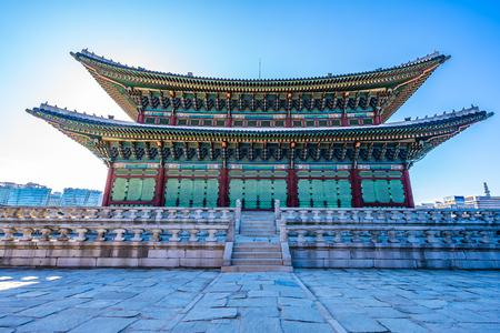 Beautiful architecture building Gyeongbokgung palace in Seoul South Korea