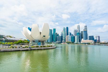 Singapore, 21 Jan 2019 : Beautiful architecture building skyscraper around marina bay in singapore city Editorial