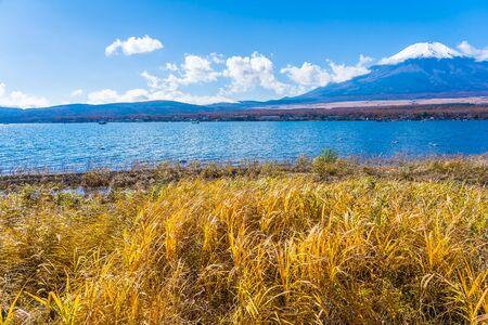 Beautiful landscape of mountain fuji around yamanakako lake Japan Stock Photo