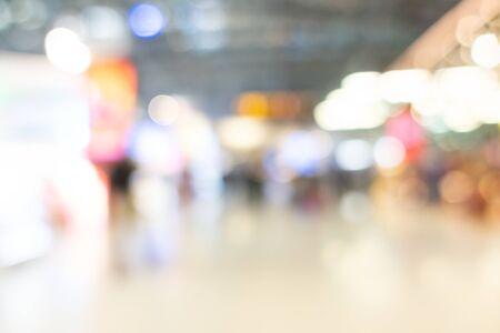 Abstrakte Unschärfe Einkaufszentrum Interieur des Kaufhauses für Hintergrund