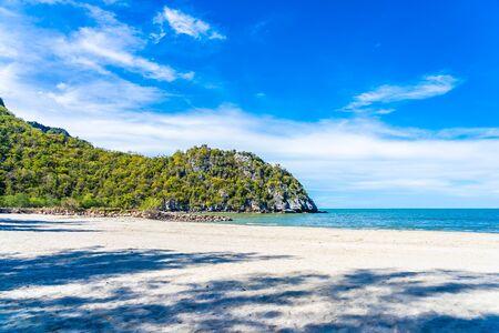 Beautiful outdoor tropical nature landscape of sea ocean and beach in pranburi Thailand