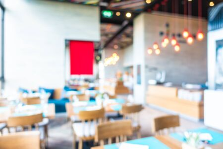 Abstract blur and defocused coffee shop and restaurant interior for background Zdjęcie Seryjne