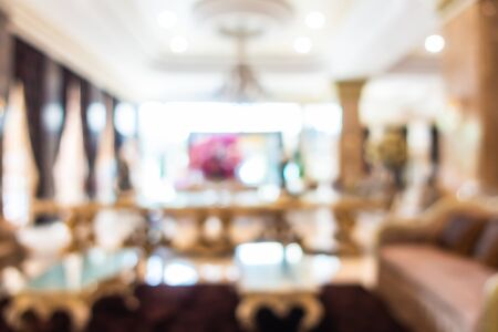 Abstract blur and defocused hotel and lobby interior for background Reklamní fotografie