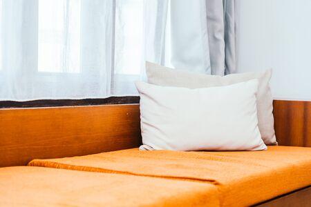 Comfortable pillow on sofa decoration interior luxury of room Stock fotó