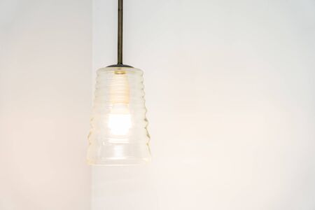 Light lamp on wall decoration interior of room Stock Photo