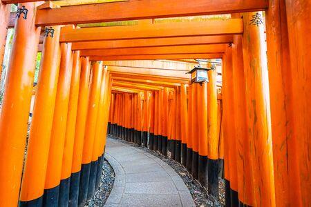 Beautiful fushimi inari shrine temple in Kyoto Japan