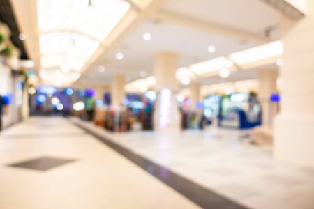 Abstract blur and defocused shopping mall and retail interior of department store for background 스톡 콘텐츠