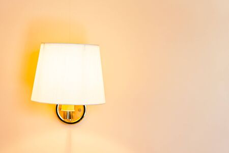 Beautiful light lamp and bulb on wall decoration interior of room