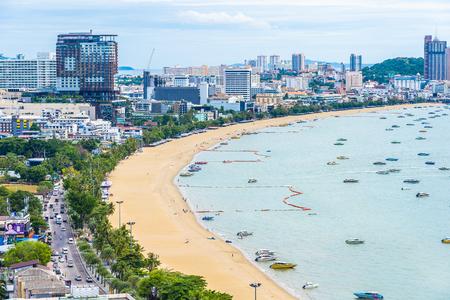 Pattaya Thailand - 26 July 2019 Beautiful landscape and cityscape of pattaya city in Thailand