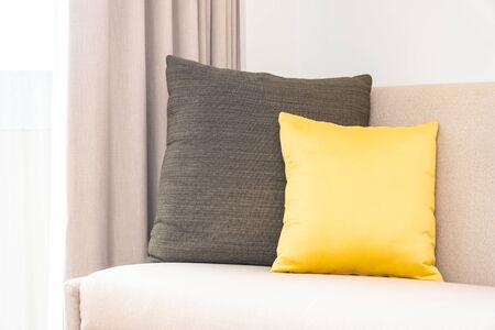 Comfortable pillow on sofa decoration interior of living room area Фото со стока - 131349695
