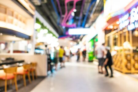 Abstract blur and defocused shopping mall and retail interior of department store for background Фото со стока
