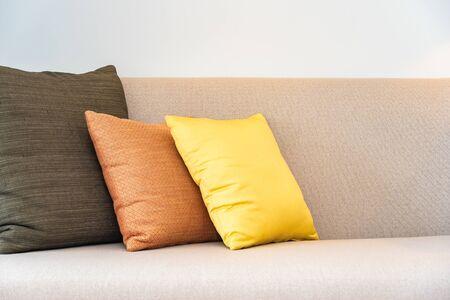 Comfortable pillow on sofa decoration interior of living room area Фото со стока - 131349716