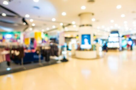 Abstract blur and defocused beautiful luxury department store and shopping mall interior for background Фото со стока