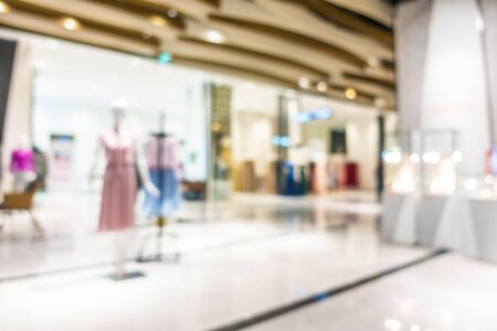 Abstract blur and defocus beautiful luxury shopping mall and retail of department store interior for background Foto de archivo