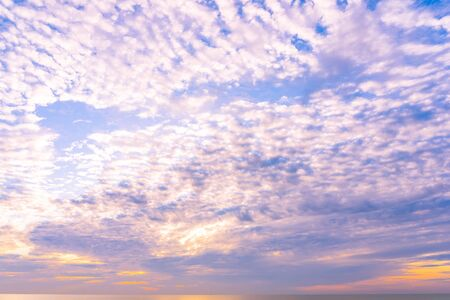 Beautiful cloud shape around sky at sunrise time