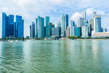 Singapore, 21 Jan 2019 : Beautiful architecture building skyscraper around marina bay in singapore city Фото со стока