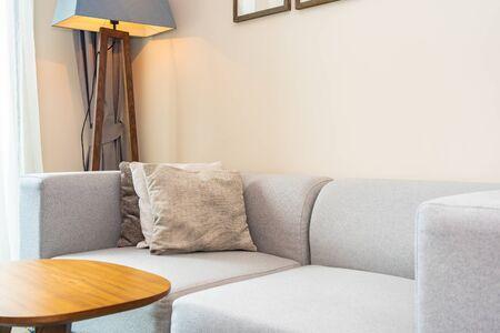 Comfortable pillow on sofa decoration interior of room