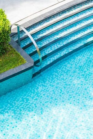 Outdoor swimming pool for relax and take a break