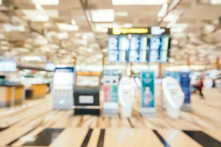 Abstract blur and defocused  aiport terminal interior Stock Photo