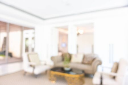 Abstract blur and defocused hotel lobby and hall interior