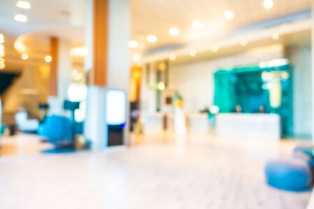 Abstract blur and defocus lobby decoration in hotel