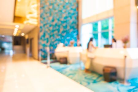 Abstract blur and defocus luxury hotel lobby interior