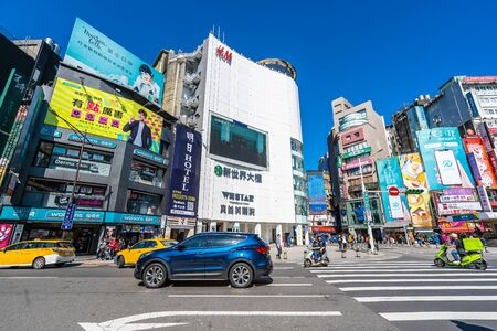 Taipei, Taiwan 30 November 2018 : Ximending market is the popular place in taipei for shopping new fashion and find something eat