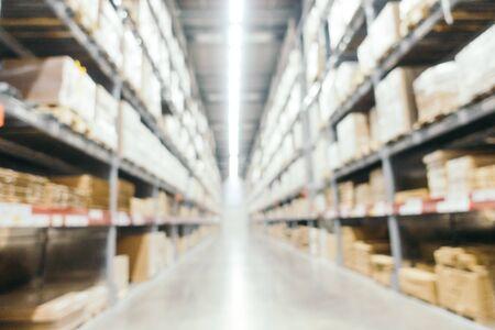 Décoration de meubles flou abstrait et magasin intérieur entrepôt pour le fond