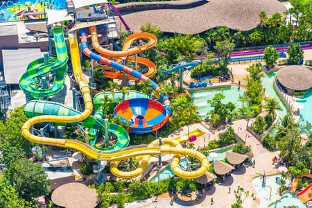HUa hin, Thailand 30 April 2019 - Vana nava is the popular water park in hua hin city Thailand Editorial