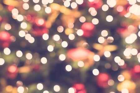 Desenfoque abstracto y luz de Navidad bokeh desenfocada para el fondo
