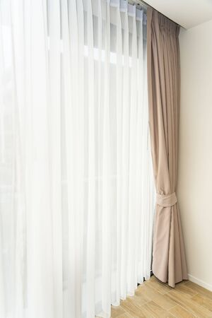 Beautiful window and curtain decoration interior of room