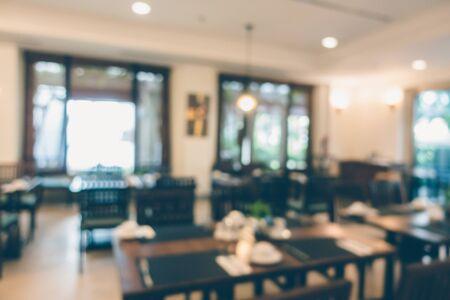 Café-restaurant flou abstrait et salle intérieure du restaurant pour le fond Banque d'images