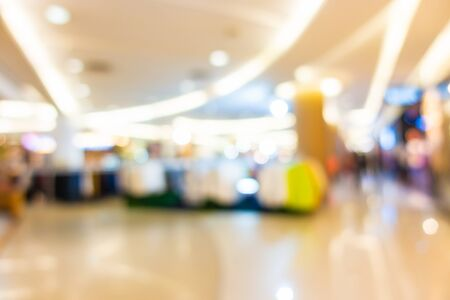 Abstract blur shopping mall in department store interior for background