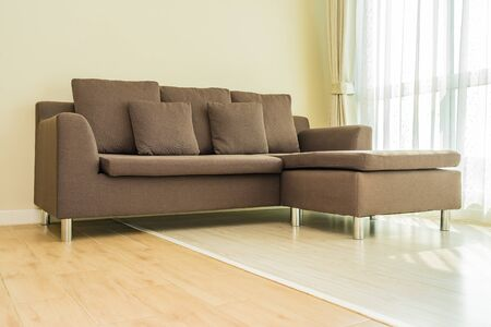 Pillow on sofa decoration interior of living room area Standard-Bild
