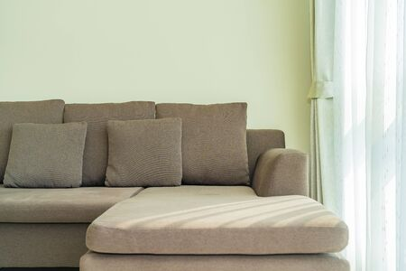 Pillow on sofa decoration interior of living room area Zdjęcie Seryjne
