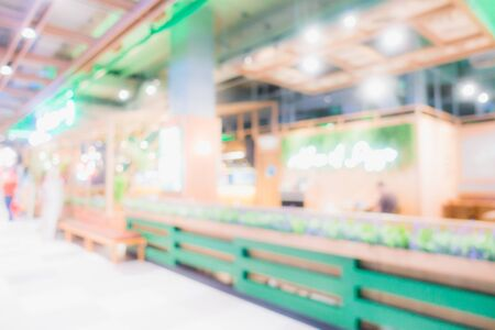 Abstract blur and defocus shopping mall in department store interior for background 写真素材