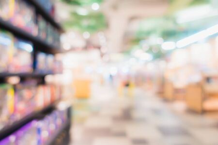 Abstract blur and defocus shopping mall in department store interior for background Stock Photo