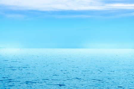 deep sea: Peaceful is a Blue sea Stock Photo