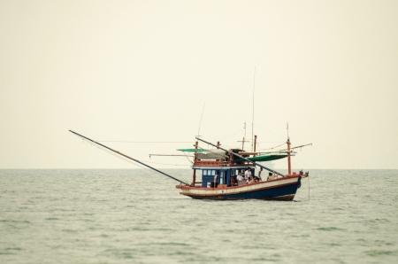 Fishing boats on the sea photo