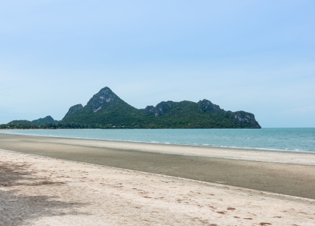magnetic stones: Sea at dim weather  in thailand